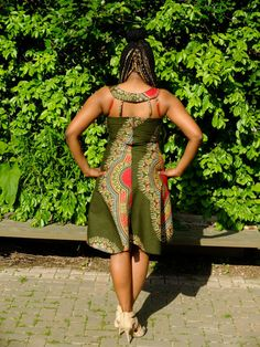 Dashiki high low dress by ViktoriasSipithi on Etsy African Wear, African Style, African Fashion, African Clothes, Kitenge, Dashiki, African Design, African Prints, Fashion Prints