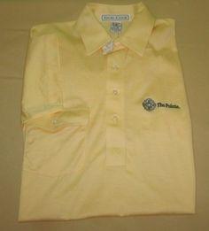 NEW Vntg 80s Men's IZOD CLUB Pocket GOLF Shirt S - Yellow - THE POINTE GC - AZ #IzodClub #PoloRugby