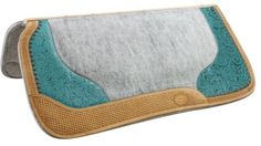 Teal Filigree Western Saddle Pad