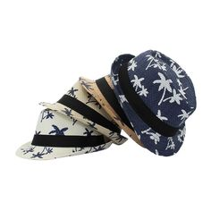 b53a8491458 Family Daddy Son Beach Sun Straw Hat Sunshade Sunhat Coconut Tree Prints  New HOT in Clothing