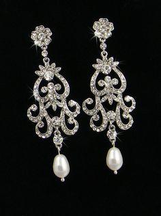 Bridal Chandelier earrings wedding jewelry by CrystalAvenues, $53.00
