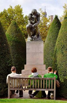 The Thinker - Rodin Museum  Musée Rodin, 77 Rue de Vareen, Paris VII. (CW21-1)
