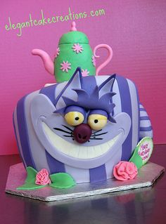 Cheshire Cat Birthday Cake | Flickr - Photo Sharing!