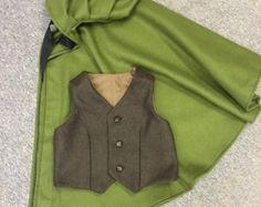 Gestickte linierten wolle Mantel von aigala auf Etsy