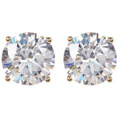 Nordstrom Rack Round CZ Stud Earrings ($15) ❤ liked on Polyvore featuring jewelry, earrings, cz jewelry, cubic zirconia earrings, silver tone earrings, gold tone earrings and stud earrings #GoldJewelleryPosts