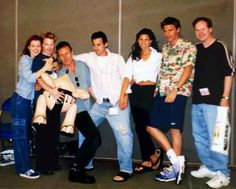 Picture of the Buffy the vampire slayer cast at their first comic con