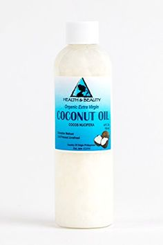 Coconut Oil Extra Virgin Organic Pure Cold Pressed Unrefined Raw 4 oz * Click image to review more details.
