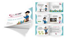 """Creazione delle illustrazioni e della brochure per """"Teracom"""", azienda che opera nell'Information Technology."""