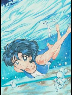 Ami swimming sailor mercury