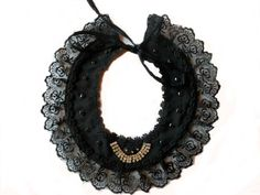 Lace Collar Lace Collar, Crochet Necklace, Bows, Handmade, Jewelry, Fashion, Crochet Collar, Hand Made, Jewellery Making