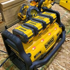 krugerconstruction4 9.0 Flexvolt batteries on Power station. This thing charges batteries and also acts as a power supply for corded tools or just corded anything. We'll have one to test soon. What do you guys want to see plugged into this thing? @dewalttough #dewalt #flexvolt #stafda