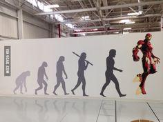 "The new art displayed at Tesla Motors. ""Evolution"""