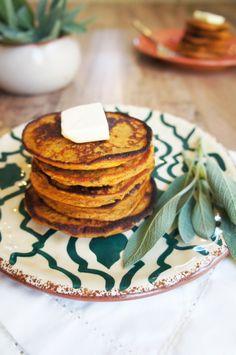 Sweet Potato Sage Pancakes (Nut Free!!)