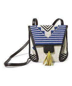 Look at this #zulilyfind! Blue Beaded Crossbody Bag #zulilyfinds