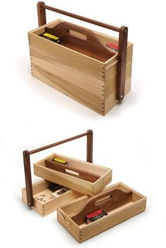 Woodworking For Kids Stacking Tool Caddy - Popular Woodworking Magazine Kids Woodworking Projects, Learn Woodworking, Woodworking Patterns, Woodworking Workbench, Popular Woodworking, Diy Wood Projects, Woodworking Furniture, Woodworking Hacks, Woodworking Techniques