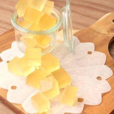材料4つ きらっとかわいいはちみつレモンのグミ 作り方・レシピ | 料理(レシピ)動画のクラシル