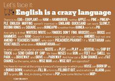 Why is English so hard? Немного лингвистического юмора  АНГЛОМАНИЯ