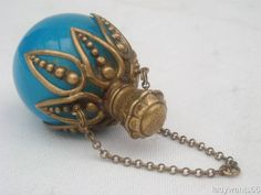 ANTIQUE-OPALINE-BLUE-SPHERICAL-PERFUME-SCENT-BOTTLE-WITH-ORMOLU-MOUNT-CIRCA-1880 from ebay.com.au