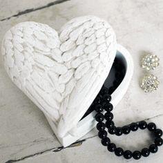 Angel Wings keepsake box favors.