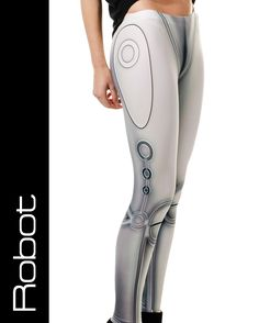 robot leggings | Robot android metallic look leggings by Taut