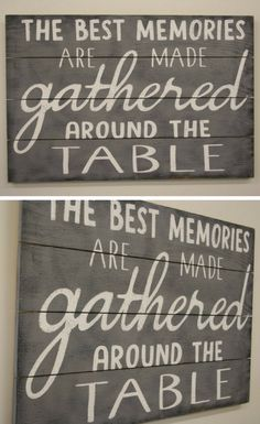 The Best Memories Are Made gathered around the table wall decor, Kitchen Sign, Dining Room Sign,Home decor, Rustic Kitchen Decor, Dining Room Decor, Pallet Sign, Wood Sign, Wall Art Farmhouse Sign, kitchen sign, farmhouse decor, rustic sign #ad