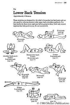 low back stretches | Stretches for lower back tension.