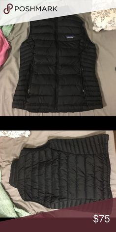 Patagonia Down Vest Patagonia Down Vest, size SM. This vest is black and very versatile. If it fit me I would wear it with everything! Originally bought it brand new for $150 a year ago. It is real down so it keeps you very warm and cozy Patagonia Jackets & Coats Vests