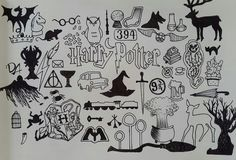 Drawing Harry Potter Symbols Hogwarts 55 Ideas For 2019 Harry Potter Fan Art, Harry Potter Journal, Harry Potter Sketch, Harry Potter Symbols, Harry Potter Drawings, Harry Potter Tattoos, Harry Potter Quotes, Harry Potter Bricolage, Desenhos Harry Potter
