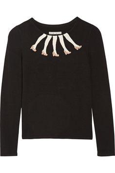 ALICE + OLIVIA Legs Knitted Sweater. #alice+olivia #cloth #sweater