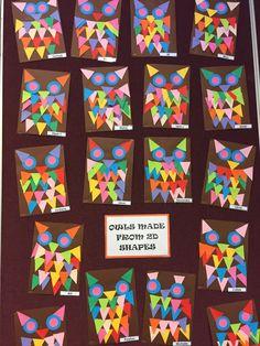 Super bird art projects for kids schools shape Ideas 2d Shapes Kindergarten, Kindergarten Art Projects, Classroom Art Projects, Cool Art Projects, Shape Collage, Paper Collage Art, Shape Art, 2d Shapes Activities, Grade 1 Art