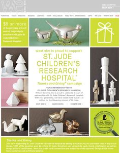 support St. Jude Children's Research Hospital by shopping at West Elm