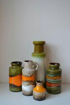 German art pottery vases