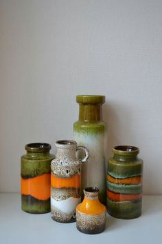 German art pottery vases
