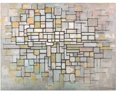 Piet Mondrian Canvas Print featuring the painting Composition No. 11 by Piet Mondrian Piet Mondrian, Wassily Kandinsky, Oil On Canvas, Canvas Art, Canvas Prints, Art Prints, Centre Pompidou Paris, Dutch Painters, Oil Painting Reproductions