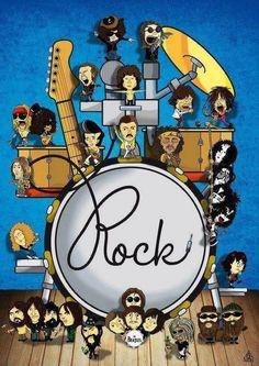 Rock and Roll #music #artwork #musicart www.pinterest.com/TheHitman14/music-art-%2B/
