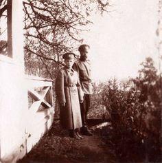 Tsar Nicholas II with Tsarevich Alexei.