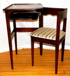 I WANT THIS!!! Only $500, doable =)  Maybe I can build it! Mahogany Telephone Gossip Table/Bench with Attached Chair