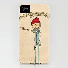 """@Ryan Murff, you need this for your new iphone! """"THIS IS AN ADVENTURE."""" - Zissou  by Derek Eads  IPHONE CASE / IPHONE (4S, 4)  $35.00"""