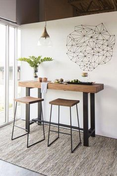 Modern & Contemporary Dining Room Design - Trend Home Patio Bar Set, Pub Table Sets, Small Pub Table, Pub Tables, Dining Room Sets, Dining Room Design, Bar Table Design, Table Designs, Deco Studio