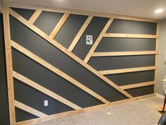 Accent Walls In Living Room, Living Room Decor, Bedroom Decor, Home Renovation, Home Remodeling, Accent Wall Designs, Gym Room At Home, Moldings And Trim, Diy House Projects