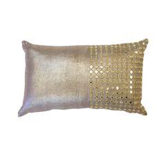 Metallic Mirror Lumbar Pillow