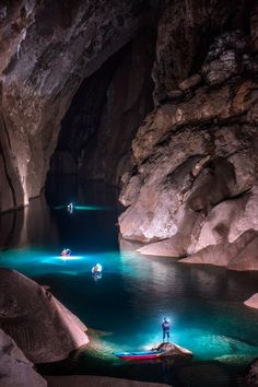 This is a rare capture of Hang Son Doong Cave in Phong Nha Ke Bang Providence Vietnam. This mystical cave river only appears at the beginning and end of the monsoon seasons which makes the cave impassable. Only two weeks after this shot was taken this river disappeared for the dry season becoming a muddy trench and 200 meters lower.