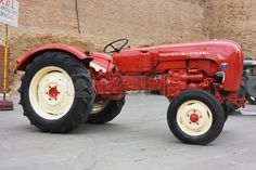 FORLIMPOPOLI ITALY OCTOBER 10 Exhibition of old tractors vintage tractor Porsche exhibit at Autunno  Stock Photo