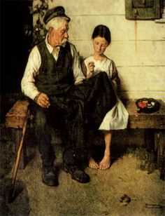 Norman Rockwell - Lighthouse Keepers Daughter, 1923