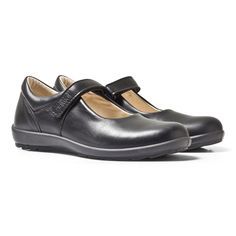Primigi Olea Black Leather Mary Jane School Shoes