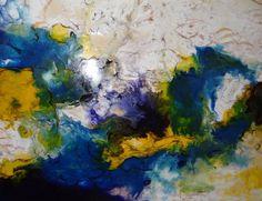"""Encaustic Schellac Kunst — """"Tormenta"""" By N. Winkel Encaustic Schellac"""