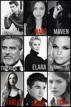 How I picture the cast of Red Queen! Red Queen Book Series, Red Queen Victoria Aveyard, Glass Sword, King Cage, Queen Aesthetic, World On Fire, Perfectly Imperfect, Fantasy Books, Book Fandoms