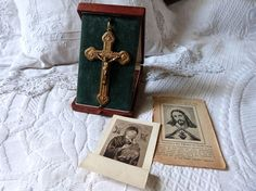 ❤¤ Antique French pectoral cross necklace pendant crucifix rosary LARGE r... Available 4U http://etsy.me/2gRSp5v