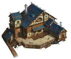 ArtStation - Medieval House, hee uk Jung