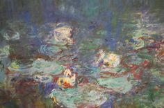 monet, water lilly detail
